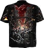 Spiral - Men - DEVILS PATHWAY - Allover T-Shirt Black