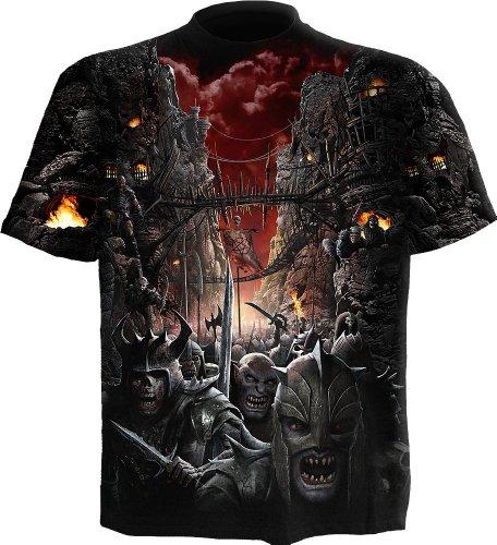 Spiral Devils Pathway T - Shirt Gothic Zombie Totenkopf schwarz Schwarz