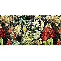 Pistachio Pet - Póster de doble cara para acuario, 48 x 100 cm