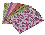 #6: DI-KRAFT Assorted Colour Handmade printed & plain paper in A4 size 150 GSM Set Of 50