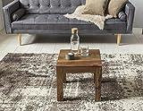 WOHNLING Couchtisch Massiv-Holz Sheesham 45 cm breit Wohnzimmer-Tisch Design dunkel-braun Landhaus-Stil Beistelltisch Natur-Produkt Wohnzimmermöbel Unikat modern Massivholzmöbel Echtholz rechteckig - 4