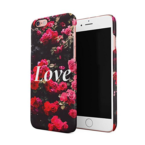 Fuck You Very Much Pink Roses Pattern Dünne Rückschale aus Hartplastik für iPhone 6 Plus & iPhone 6s Plus Handy Hülle Schutzhülle Slim Fit Case cover Love