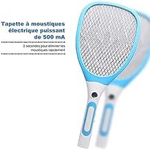 Raquette Anti Moustiques, OUTERDO Raquette à Insecte USB Rechargeable avec Eclairage Lumineux Démontable Accueil Essentiel Idéal pour Voyages et Activités en Plein Air