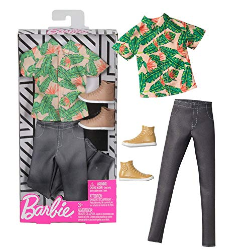 Barbie Set Floral Print | Ken Trend Mode Mattel FXJ39 | Puppen-Kleidung