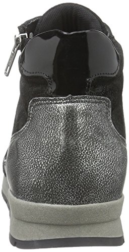 Marc Shoes Raven, Baskets Basses Femme Noir - Schwarz (black-combi 00079)