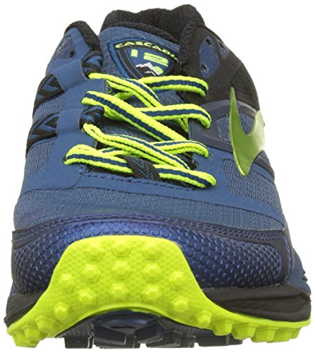 Brooks Cascadia 12, Scarpe da Trail Running Uomo Multicolore (Blue/Black/Nightlife 1D419)
