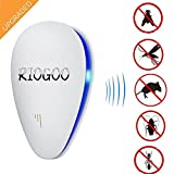6 in 1 Ultrasonic Pest Repeller- Spider Repellent Extreme Power Eco Friendly Ultrasonic LED Device - Eliminate All Types of Insects and Rodents 100% Safe for Humans and Pets(UK Plug) (1)