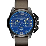 Diesel Ironside Men's Quartz Watch with Multicolour Dial Analogue Display and Brown Leather Bracelet Dz4364