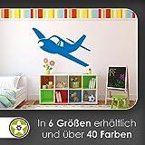 KIWISTAR Propellerflugzeug - Fliegen Flugzeug Wandtattoo in 6 Größen - Wandaufkleber Wall Sticker