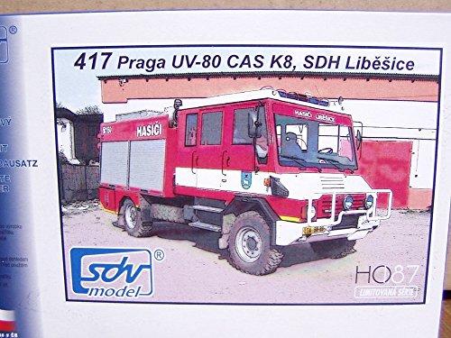 Preisvergleich Produktbild SDV LKW Truck Praga UV-80 CAS K8 Feuerwehr Kunststoff Modellbausatz 1:87 H0