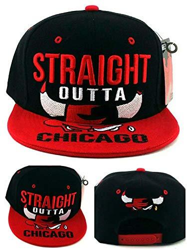 Greatest 23Chicago New gerade Outta Bulls Farben schwarz rot Era Snapback Hat Cap (Snapback Jordan Red)