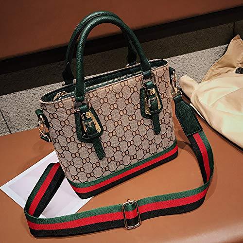 LFGCL Bags womenOne-Shoulder-Handtaschen, Wilde Umhängetasche, atmosphärische Segeltuchtasche, grün