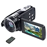 Videokamera Camcorder Full HD 1080p 24.0MP Vlogging Kamera 3,0 Zoll LCD-Bildschirm 18X Digital Zoom Webcam Camcorder mit Fernbedienung