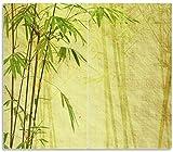 Wallario Herdabdeckplatte/Spritzschutz aus Glas, 2-teilig, 60x52cm, für Ceran- und Induktionsherde, Antiker Bambus