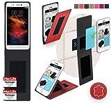 reboon Hülle für HomTom HT10 Tasche Cover Case Bumper | Rot Leder | Testsieger