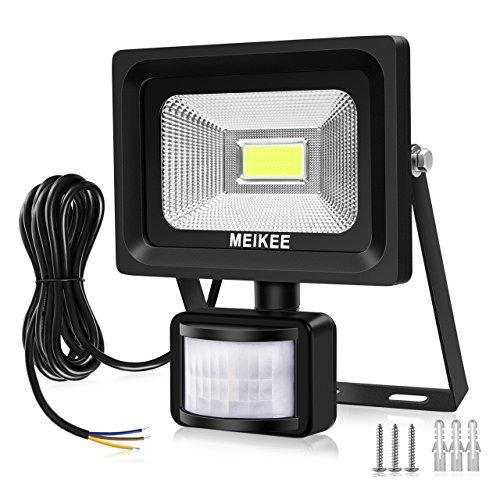 MEIKEE Faretto con Sensore di Movimento 20W,2000LM Faretto Proiettore LED Esterni/Interni,IP65 Impermeabile Luci di Sicurezza con PIR, Faro Led Sensore per Giardino, Corridoio, Terrazza, Patio, ecc