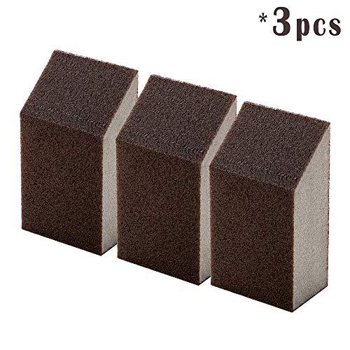 Reinigung Scrub Schwamm, Radiergummi Scheuerschwämmen Verwendung für Schrubben Küche, Badezimmer, Töpfe, Pfannen, Waschbecken und etc. 3 PCS braun