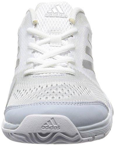 adidas Barricade Club, Scarpe da Tennis Unisex – Adulto Argento (Ftwr White/silver Metallic/core Pink)