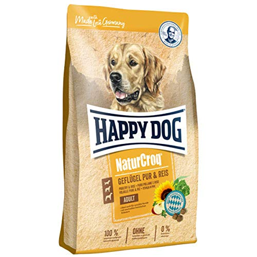 Happy Dog Premium - Natur Croq Geflügel Pur und Reis 15 kg