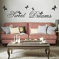 "MFEIR® Stickers Murali frasi Stickers Murali camera da letto ""Sweet Dreams"" 25 x 70cm"