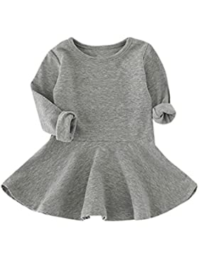 Vestido de invierno, RETUROM Bebés niña de caramelo de color de manga larga vestidos de princesa Tamaño 12 meses...