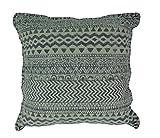 IHB Denim Blau Geometrische Design Baumwolle Dhurrie Kopfkissen 50,8cm