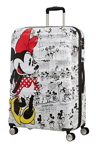 American Tourister Wavebreaker Disney Comics Spinner L Valigia per Bambini, 77 cm, 96 L, Multicolore (Minnie Comics White)