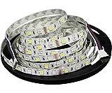 Mixed-Gadgets LED Light Strip 16.4ft 5M flexibler RGB + Weiß 300leds Farbwechsel-Streifen Licht