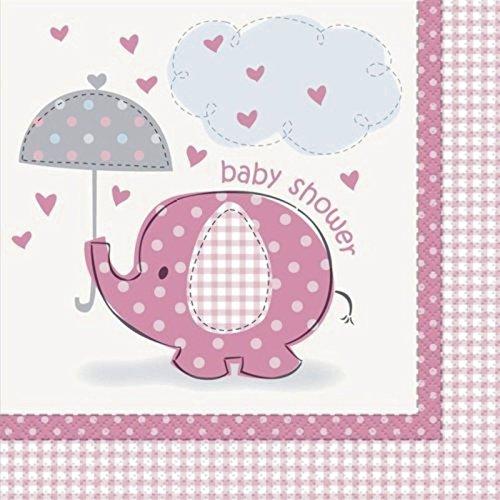 Umbrellaphants rosa tovaglioli, confezione da 16