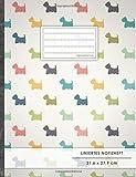"""Liniertes Notizbuch • A4-Format, 100+ Seiten, Soft Cover, Register, Mit Rand, """"Westie Terrier"""" • Original #GoodMemos Lined Notebook • Perfekt als Tagebuch, Schulheft, Deutschheft, Lineatur 27"""