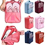 1.LARGE CAPACITY- Size:11.41x8.46x5.12inch Shoe Cube, Larger Inside Space fit most shoe sizes and types including Golf shoes, Dance Shoes, Gym Shoes, Soccer Shoes, Golf shoes etc. With two extra storage space, inside and outside mesh Pocket, which ca...
