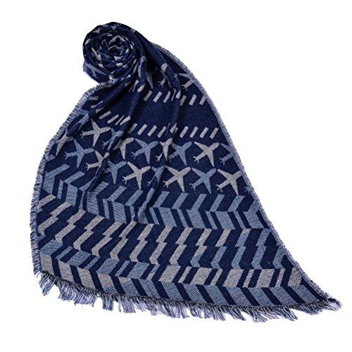 Ponchos For Women Sciarpa Donna Inverno Elegante Scialli Vintage Geometrie Pattern Moda Giovane Knitted Cashmere Sciarpe Autunno Poncho Inverno Caldo Scialle Mantelle Con Frangia Plus Size Blu