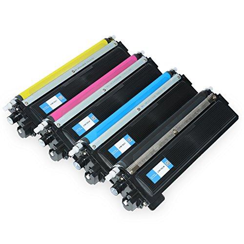 Preisvergleich Produktbild Set Toner für Brother TN-230 Schwarz+ 3 Farben - Bk 2.200 Seiten,color je 1.400 seiten, kompatibel