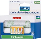 mako Lasurroller-Ersatzwalzen Mikrofaser; 2 Stück; ca. 10 cm