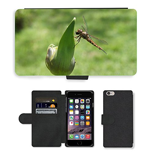 Just Mobile pour Hot Style Téléphone portable étui portefeuille en cuir PU avec fente pour carte//m00139054insectes Libellule Sheriff//Apple iPhone 6Plus 14cm