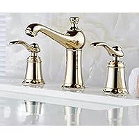 sbwylt-copper Vasca per lavabo, doppio manico calda e fredda doccia three-set Sapphire Zirconium Oro Rosa Oro