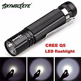 7W Q5 LED 1200lm Mini Flashlight Torch Light 14500/AA Lamp Waterproof Sirius Eye led Flashlight skywolfeye