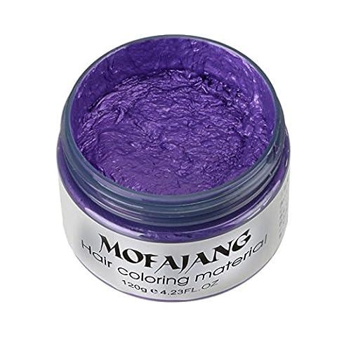 Ularma 2017 BRICOLAGE Cheveux Argile Cire Boue Colorant Crème Grand-maman Cheveux Cendre Colorant Temporaire 7 Couleurs Purple