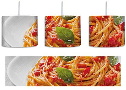 Rustikale Italienische (Rustikale italienische Spaghetti B&W Detail inkl. Lampenfassung E27, Lampe mit Motivdruck, tolle Deckenlampe, Hängelampe, Pendelleuchte - Durchmesser 30cm - Dekoration mit Licht ideal für Wohnzimmer, Kinderzimmer, Schlafzimmer)
