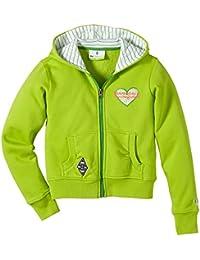 Kappa Sweatjacke Bmg Unbranded Hooded Sweatjacket Girls - Prenda, color verde, talla 8 años (128 cm)