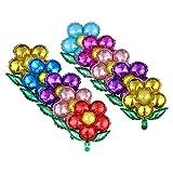 TOYANDONA Palloncini di Decorazione di Festa di Fiore di Palloncino di Foglio di Alluminio per Festa di Matrimonio di Compleanno Festa 10pcs (Colore Misto)