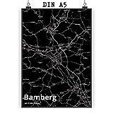 Mr. & Mrs. Panda Poster DIN A5 Stadt Bamberg Stadt Black -