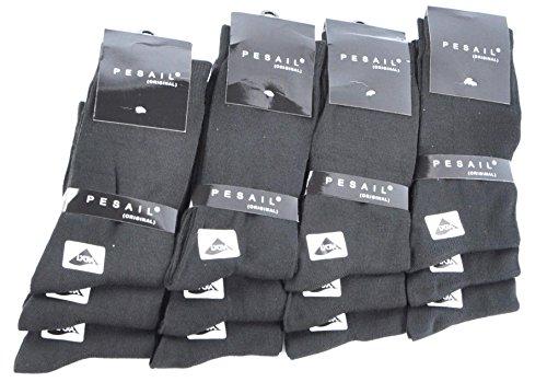 12 Paar Socken Herren Business Strümpfe Anzug schwarz Gr. 39 - 46 (43-46)
