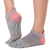Toe Sox Damen Toesox Women's Low Rise Full Grip Non-Slip for Ballet, Yoga, Pilates, Barre Toe Socks