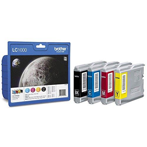 Preisvergleich Produktbild Brother Tintenpatronen Value Pack (Viererpack, Farbe: cyan / gelb / magenta / schwarz) für Lc1000