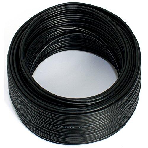 Lautsprecherkabel 2x0,50mm2 - 50m - schwarz - CCA - Audiokabel - Boxenkabel (2 0 Kupfer-kabel)