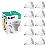 Biard LED GU10 Deckenstrahler - Einbau-Spot Spotlight Leuchte Dimmbar Warmweiß 6 Watt