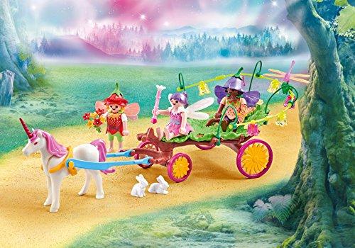 Playmobil 9823 - Enfants Fée avec Chariot de Licorne - Emballage Plastique, Pas de Boîte