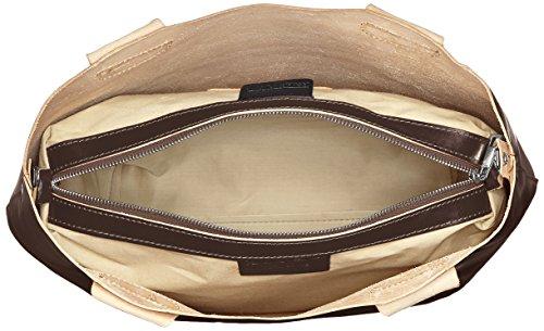 CTM Borsa da Donna a Mano e Spalla, 44x30x13cm, Vera Pelle 100% Made in Italy Marrone scuro
