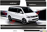 SUPERSTICKI VW Bus T4 T5 Edition - Seitenstreifen Aufkleber Komplett Set Edition Look Viperstreifen Viper Streifen Racing Stripes Rennstreifen Aufkleber Sticker Tuning Autoaufkleber